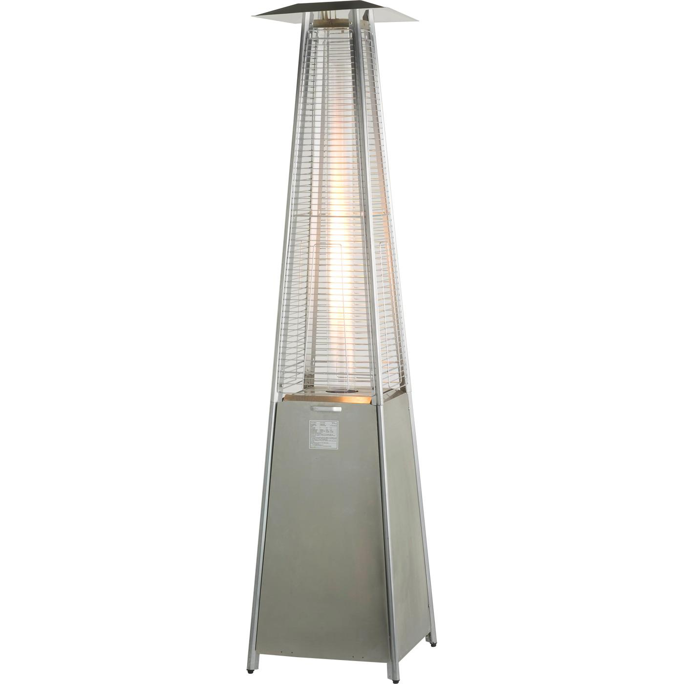 athena stainless steel flame gas patio heater heat outdoors - Propane Patio Heater