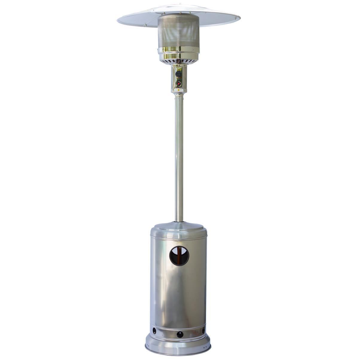 Stainless Steel Heaters : Sherpa kw stainless steel patio heater heat outdoors