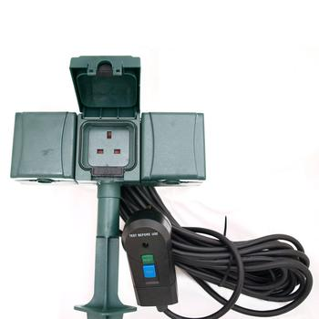 RCD Powerspike Safety Garden Sockets
