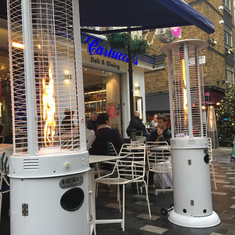 Heat Outdoors Goliath Gas Patio Heater at Carluccio's London