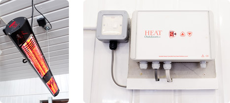 Peter Charles Infrared Heating Setup