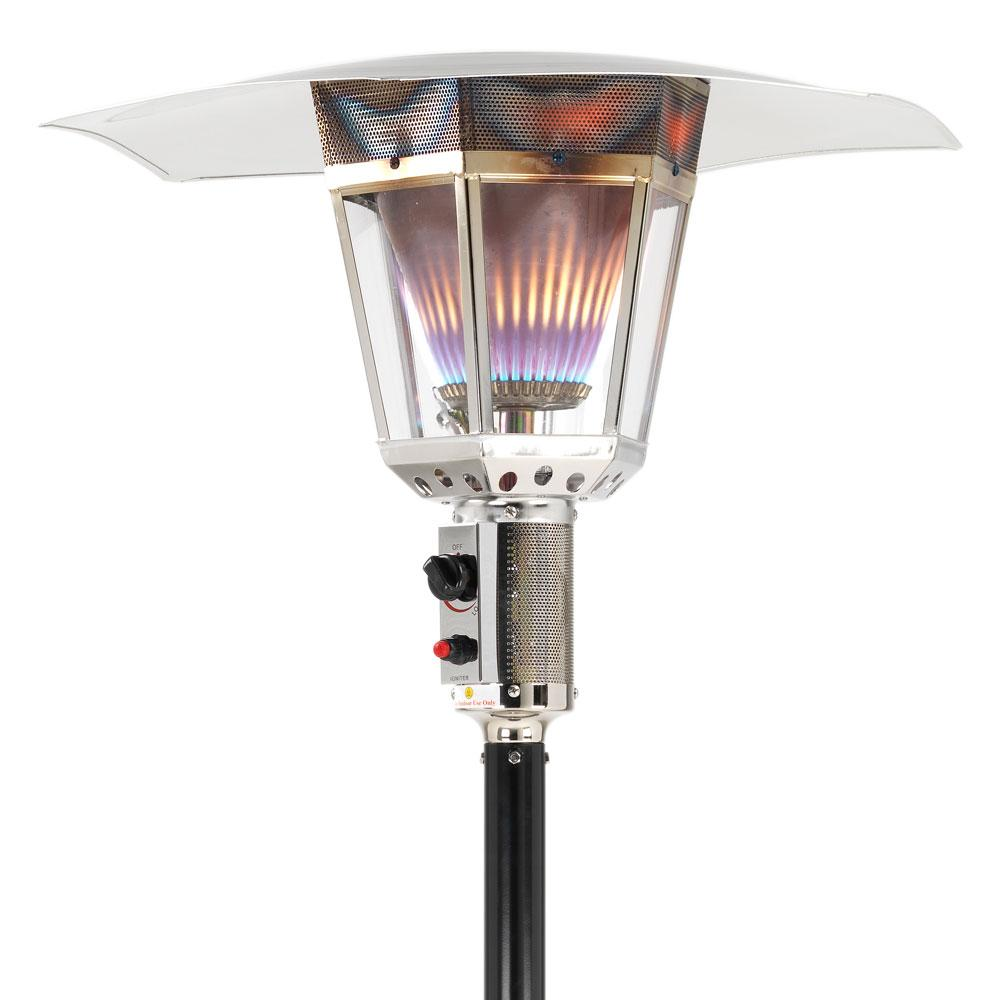 15kw london gas lamp patio heater black