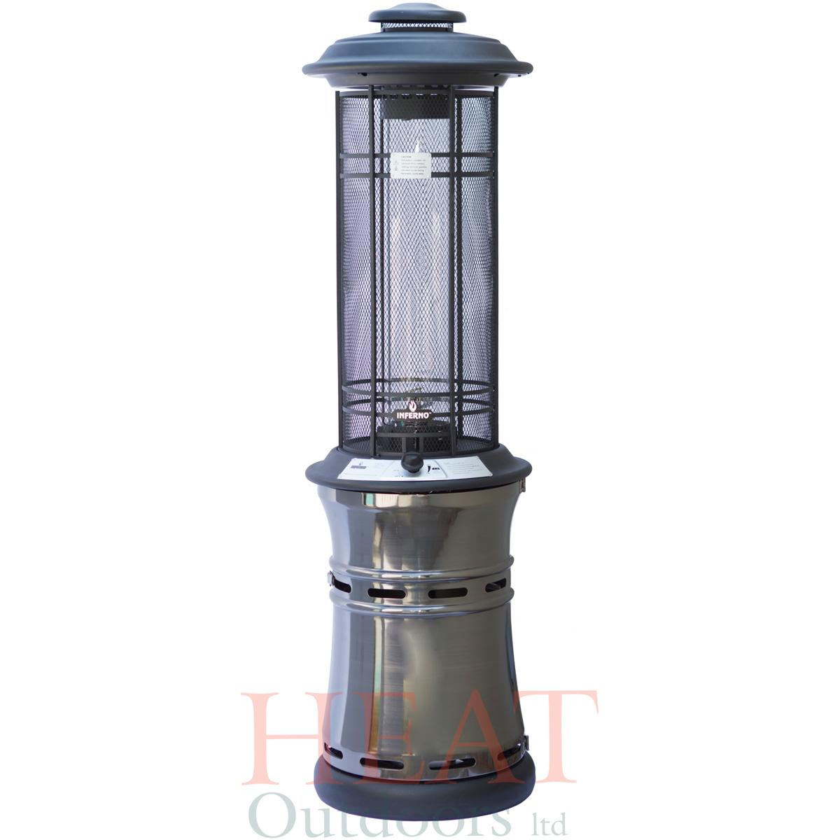 Santorini spiral flame gas patio heater heat outdoors Patio products