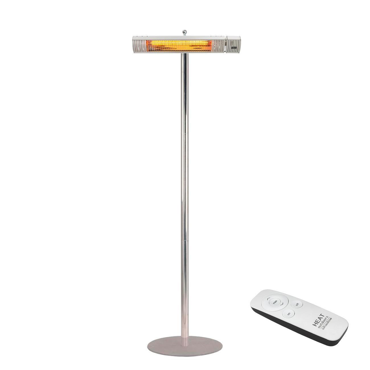 Shadow Ultra Low Glare Remote Infrared Patio Heater  with Stainless Steel Stand