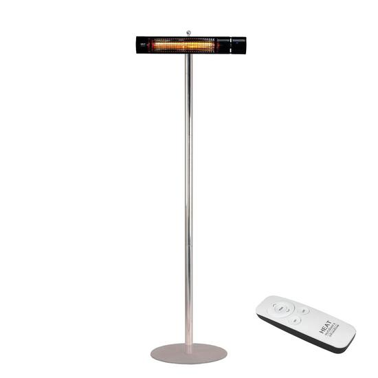 Shadow 1.5kW and 2kW Ultra Low Glare Remote Control Patio Heater with Stainless Steel Stand