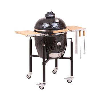 Monolith Classic Ceramic Grill incl. Black Cart and Side Shelves