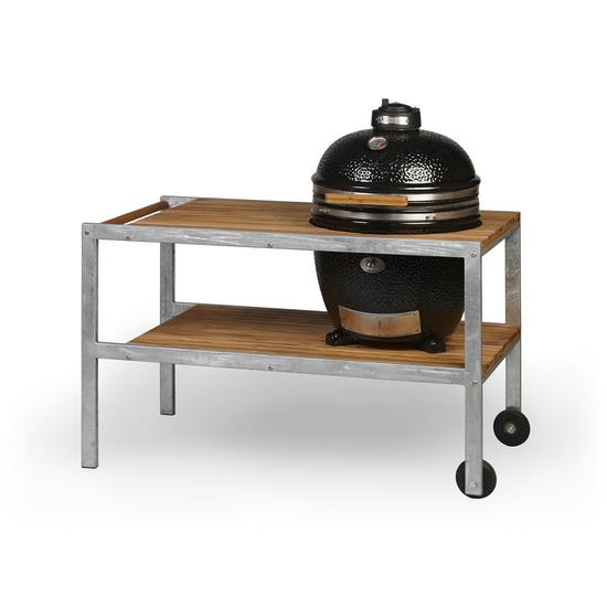 Monolith Classic Ceramic Grill incl. Steel Cart and Side Shelves