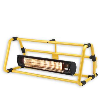 Shadow 2.0kW Ultra Low Glare Workshop Heater with Yellow Frame