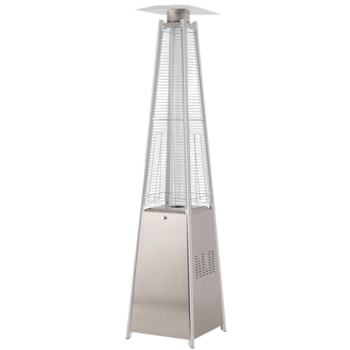 Athena Lifestyle Tahiti Commercial Grade Stainless Steel Gas Flame Pyramid Patio Heater