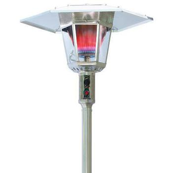 LONDON Gas Lamp 15kW Flame Patio Heater - Stainless Steel